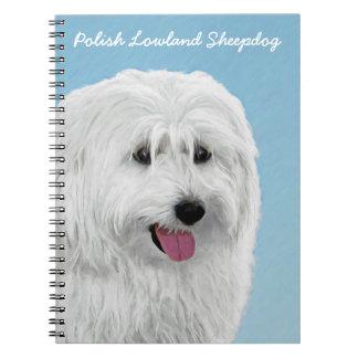 Perro pastor polaco de la tierra baja cuadernos