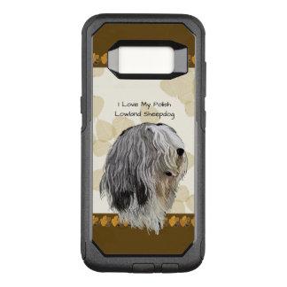 Perro pastor polaco de la tierra baja en las hojas funda otterbox commuter para samsung galaxy s8