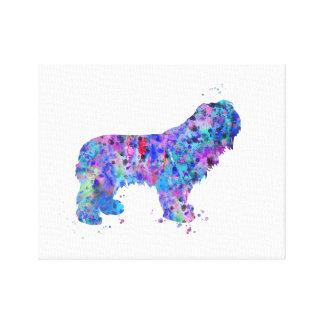 Perro pastor polaco de la tierra baja impresión en lienzo