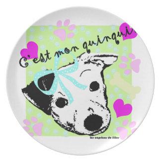 perro plato de comida