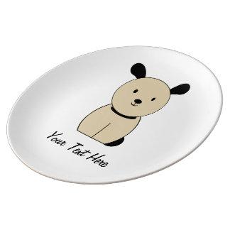 perro platos de cerámica