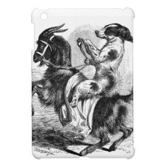 Perro que monta una cabra