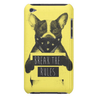 Perro rebelde (amarillo) funda para iPod de barely there