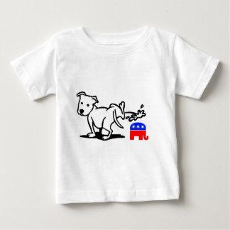 Perro republicano camiseta de bebé