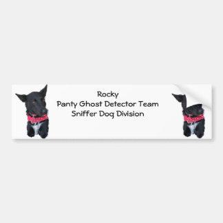 Perro rocoso - equipo del detector del fantasma de pegatina para coche