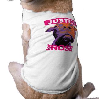 Perro T de Rose de la justicia 4 Camiseta Sin Mangas Para Perro