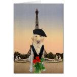 Perro/tarjeta del día de San Valentín franceses di