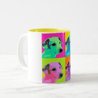 Perro, Terrier. Especie de pop - animal diseño Taza Bicolor