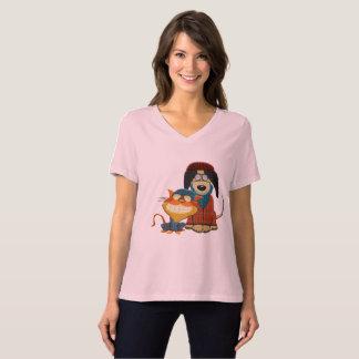 Perro y gato lindos y divertidos del inconformista camiseta