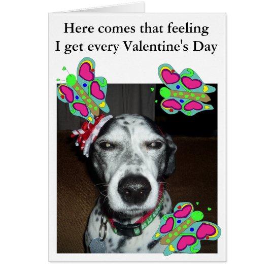 Perro y tarjeta del día de San Valentín de las