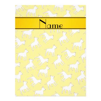 Perros amarillos conocidos personalizados de bull folleto 21,6 x 28 cm