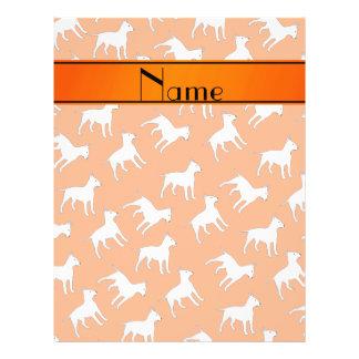 Perros anaranjados conocidos personalizados de folleto 21,6 x 28 cm