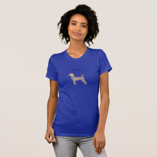 Perros azules de la camiseta de los chicas de