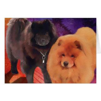 """Perros chinos de """"SASHA Y de CASEY"""" Tarjeta Pequeña"""