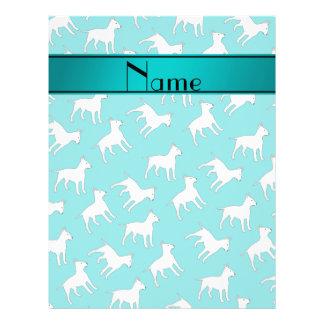 Perros conocidos personalizados de bull terrier de folleto 21,6 x 28 cm