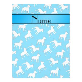Perros conocidos personalizados de bull terrier folleto 21,6 x 28 cm