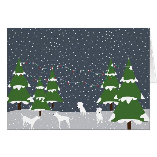 Perros de la nieve tarjeta de felicitación