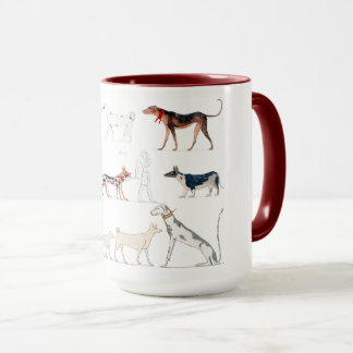 Perros de la taza de Egipto antiguo
