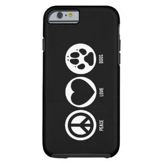 Perros del amor de la paz funda de iPhone 6 tough