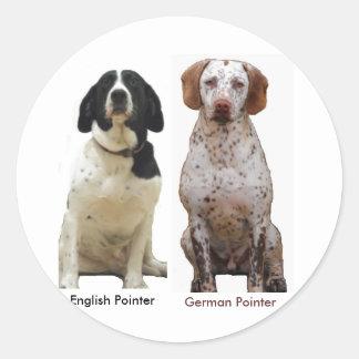 Perros del indicador pegatina redonda