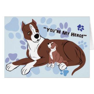 Perros del padre y del hijo tarjeta de felicitación