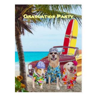 Perros/fiesta divertidos adaptables de la playa de postal