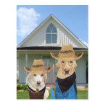 Perros/laboratorios góticos americanos divertidos postal