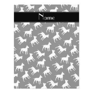 Perros negros conocidos personalizados de bull folleto 21,6 x 28 cm