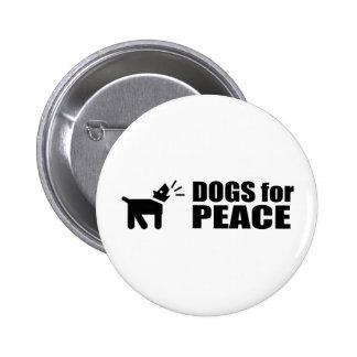 Perros para la paz pin