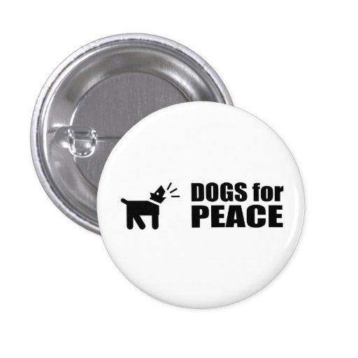Perros para la paz pins
