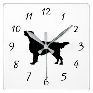 Perros Plano-Revestidos del amor de la silueta del Reloj Cuadrado