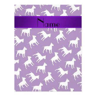 Perros púrpuras conocidos personalizados de bull folleto 21,6 x 28 cm