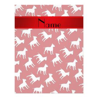 Perros rojos conocidos personalizados de bull folleto 21,6 x 28 cm
