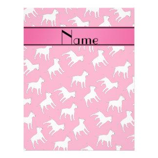 Perros rosados conocidos personalizados de bull folleto 21,6 x 28 cm