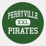 Perryville - piratas - alto - Perryville Missouri Pegatinas Redondas