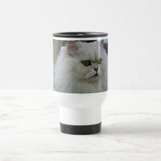 Persa blanco taza de viaje