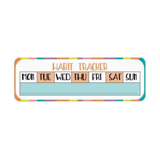 Perseguidor semanal del hábito - tienda del etiqueta de remitente