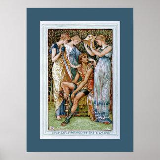 Perseus armó por las ninfas posters