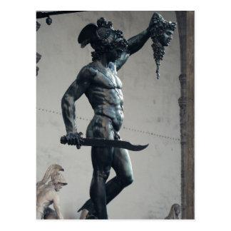 Perseus con el jefe de la medusa postal