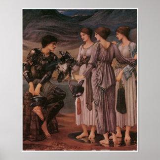 Perseus y las ninfas de mar de Burne-Jones Impresiones