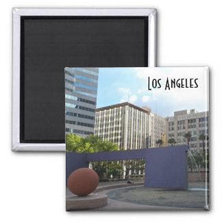 Pershing Los Ángeles cuadrado Imán Cuadrado