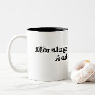 Persona de la mañana taza bicolor