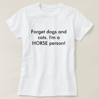 Persona del caballo camiseta