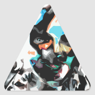 persona del interés #1 pegatina triangular