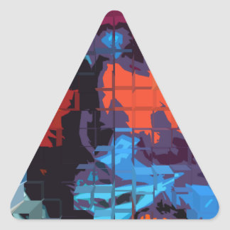 persona del interés #2 pegatina triangular