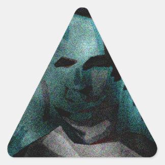 persona del interés #5 pegatina triangular