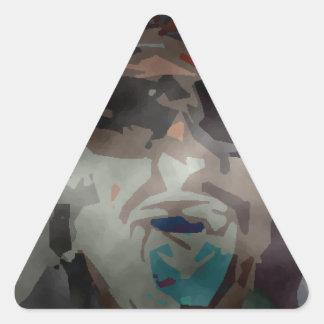 persona del interés #6 pegatina triangular