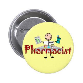 Persona del palillo del farmacéutico--Regalos Chapa Redonda 5 Cm