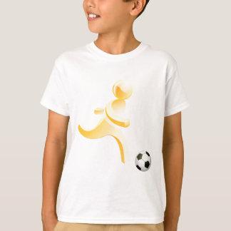 Persona que juega a fútbol camiseta