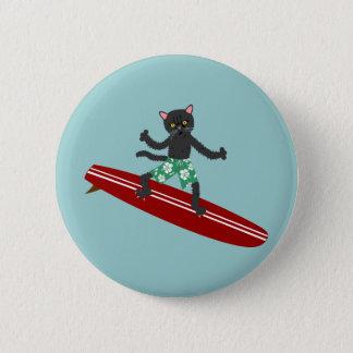 Persona que practica surf de Longboard del gato Chapa Redonda De 5 Cm